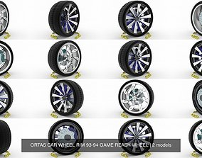 3D model ORTAS CAR WHEEL RIM 93-94 GAME READY WHEEL