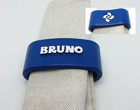 BRUNO napkin ring with lauburu 3D printable model