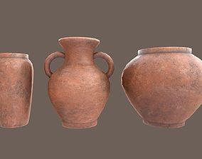 Clay Vase Pack 3D model