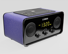 3D asset Low poly radio Yamaha TSX-B72