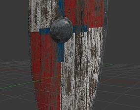 Low Poly Kite Shield 3D model