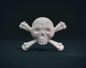 Simple skull relief 3D print model