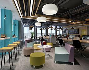 interior 3D model Office meeting room reception hall 02