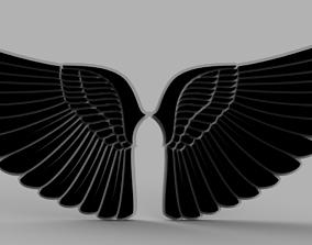 abstract 3D printable model Angel Wings