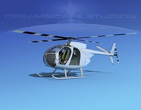 3D Hughes OH-6 Cayuse Bare Metal