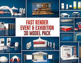 Fast Render Event and Exhibition 3d Model Pack