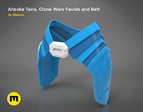Ahsoka Tano Clone Wars Faulds and Belt 3D print model