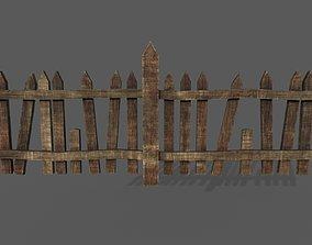 3D model VR / AR ready PBR fence
