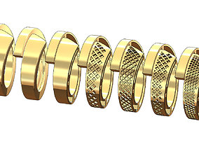 3D printable model Forged ring design with multiple