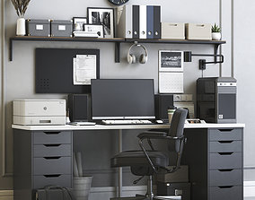 3D IKEA office workplace 5