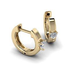 Jewelry Earrings 25mm heart 3D print model