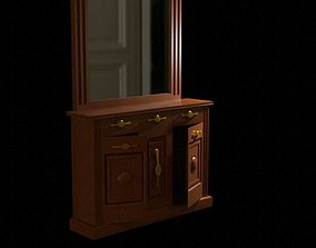 Dressing Table 3D model low-poly