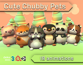 3D asset Cute Chubby Pets