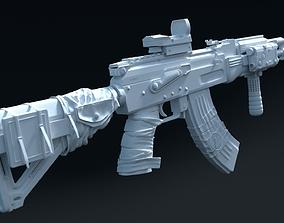 3D AK 47 Full Customized