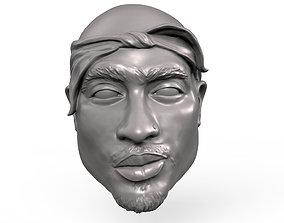 3D print model 2Pac action figure head portrait