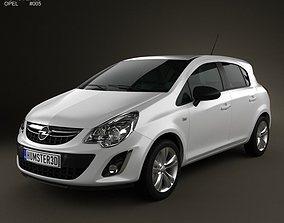 Opel Corsa D 5-door 2011 3D
