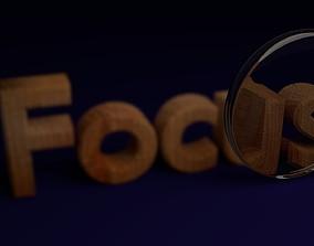 3D model Focus Text Animation