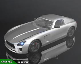 VR / AR ready Low-Poly Mercedes-Benz SLS Racing Car 3D