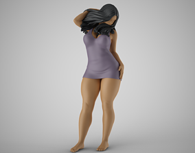 Woman at Balcony 3D printable model