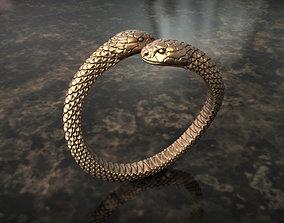 Ring double snake 3D print model