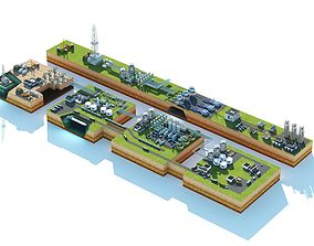 Production and sales of oil and gas 3D model
