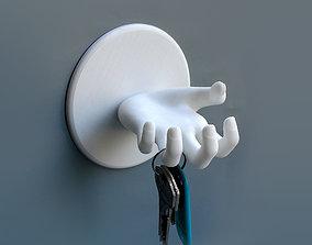 Key storage space 3D printable model wrist