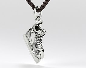 3D print model silver or gold hockey skate pendant
