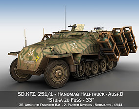 3D model SDKFZ 251 - Ausf D - Stuka zu Fuss - 33