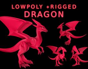 3D model Small Fire Dragon