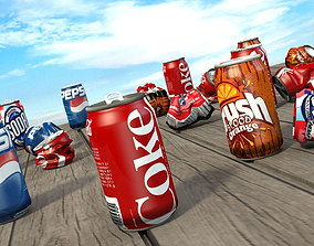 Soda Can Collection 3D model