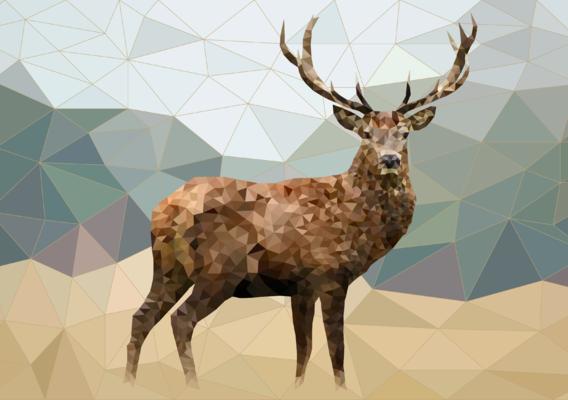 Lowpoly deer