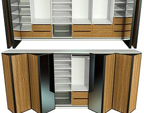 3D Wardrobe folding doors drawer