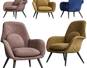 3D comfort Swoon Lounge - Fredericia Furniture