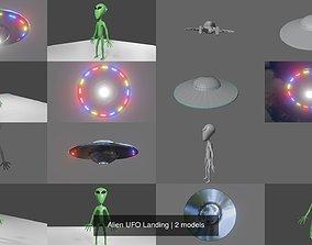 Alien UFO Landing 3D model