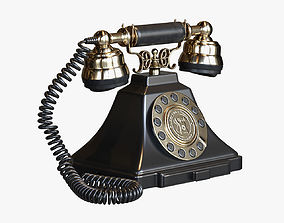 GPO Duke Classic Vintage Telephone with push 3D model 1