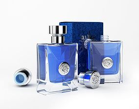 Blue Perfume In Glass Bottles 3D model