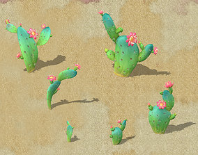 Cartoon version - cactus 3D