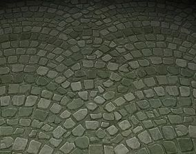 3D ground stone tile 02