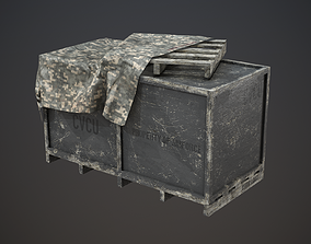 3D asset Air Force Supply Crate