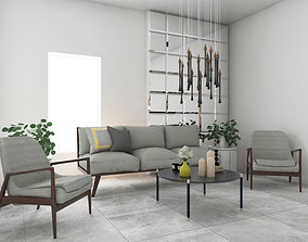 3D Reception area design