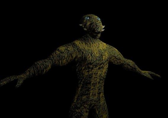 Reptilian Humanoid VR / AR / low-poly 3D model