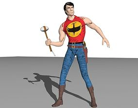 3D model rigged zagor te-nay