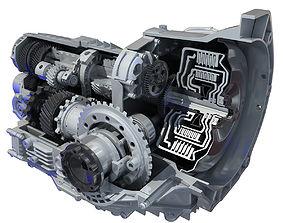 Transmission Cutaway Cayman 981 Boxster 3D model
