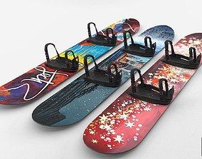 Snowbord 3D asset