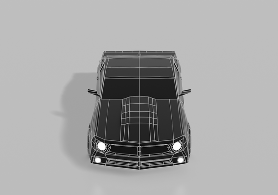 Low Poly Muscle Car (Camaro Inspired)