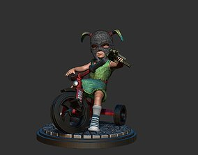 3D print model gunster girl