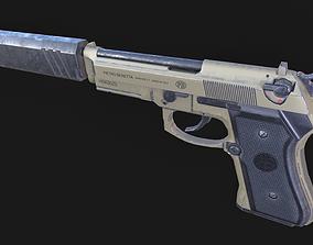 Baretta 92 Handgun Pistol 3D asset