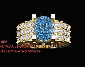 604 Diamond Ring for Women rings 3D printable model