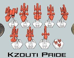 3D print model MicroFleet Kzouti Pride Starship Pack