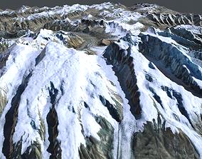 Mountain landscape Muztagh Ata China 3D model